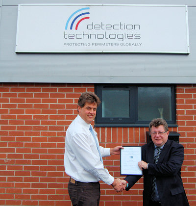 Detection Technologies gains ISO9000 accreditation