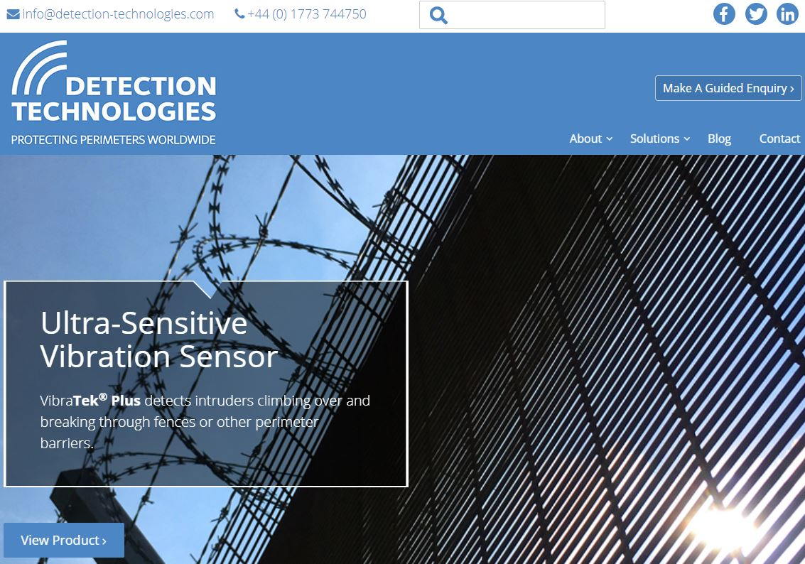 Detection Technology - new website
