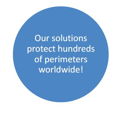 Our solutions protect hundreds of perimeters worldwide